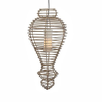 Jazmin 1-Light Foyer Pendant Size: Medium, Color: Grey