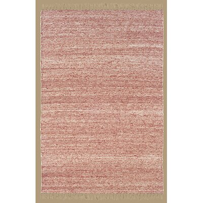 Landenberg Hand-Woven Red Area Rug Rug Size: Rectangle 36 x 56