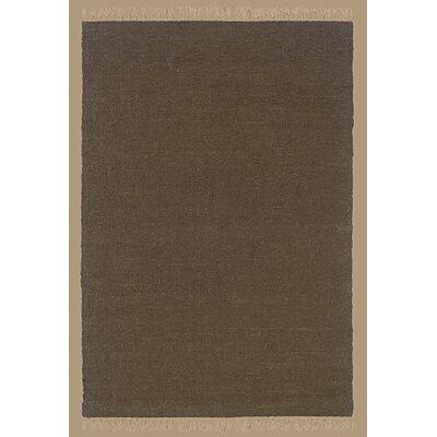Landenberg Hand-Woven Cocoa Area Rug Rug Size: 36 x 56