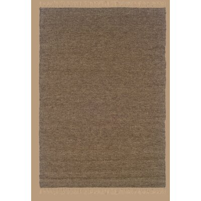 Landenberg Hand-Woven Cocoa/Mushroom Area Rug Rug Size: Rectangle 36 x 56