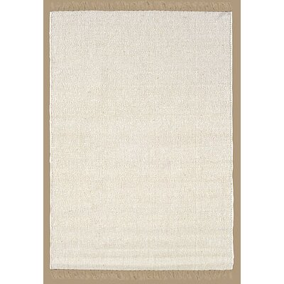 Landenberg Hand-Woven Natural/Ivory Area Rug Rug Size: Rectangle 53 x 76