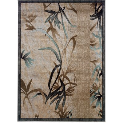Lyndalia Beige Area Rug Rug Size: Rectangle 8 x 103