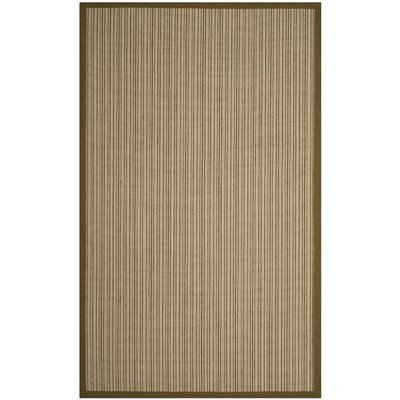 Nonatum Fiber Green Area Rug Rug Size: Rectangle 5 x 8