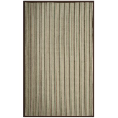 Penrock Fiber Teal/Brown Area Rug Rug Size: Square 6