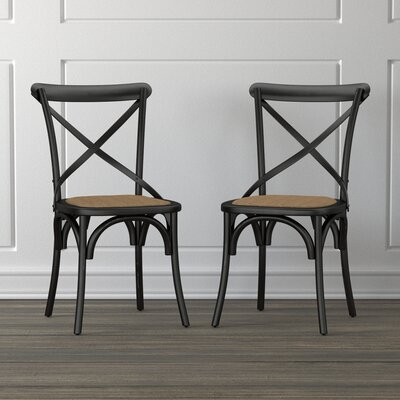 Canfield Solid Wood Dining Chair Finish: Antique Black