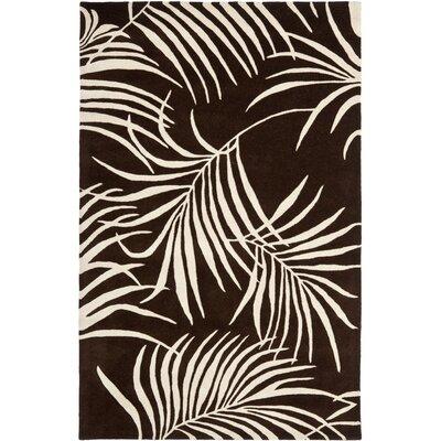 Felton Hand-Woven Wool Brown/Beige Area Rug Rug Size: Rectangle 76 x 96