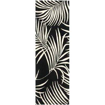 Felton Black/Ivory Rug Rug Size: Runner 26 x 8