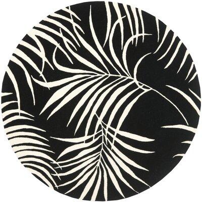 Felton Black/Ivory Rug Rug Size: Round 6