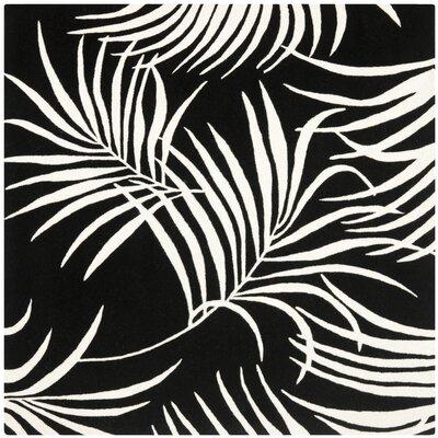 Felton Black/Ivory Rug Rug Size: Square 6