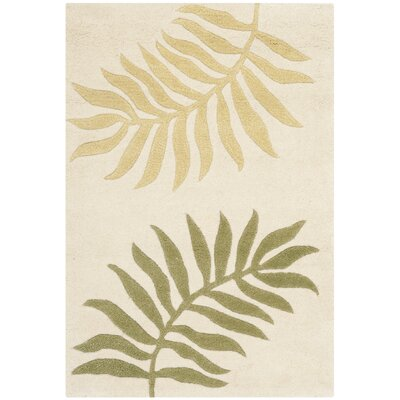 Gatewood Hand-Woven Wool Ivory Area Rug Rug Size: Rectangle 2 x 3