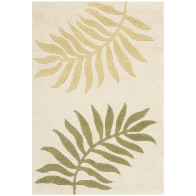 Gatewood Hand-Woven Wool Ivory Area Rug Rug Size: Rectangle 76 x 96