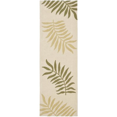 Gatewood Hand-Woven Wool Ivory Area Rug Rug Size: Runner 26 x 8