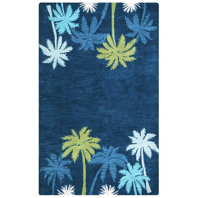 Minnie Hand-Tufted Navy Area Rug Rug Size: Rectangle 5 x 8