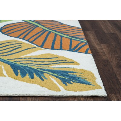 Mako Hand-Tufted Indoor/Outdoor Area Rug Size: Round 8