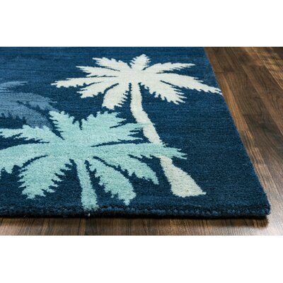 Minnie Hand-Tufted Navy Area Rug Rug Size: Rectangle 8 x 10