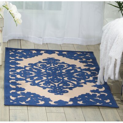 Seaside Navy Indoor/Outdoor Area Rug Rug Size: 53 x 75