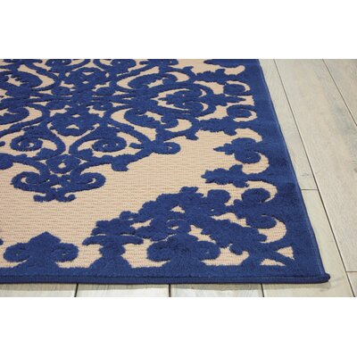 Farley Navy Indoor/Outdoor Area Rug Rug Size: 53 x 75