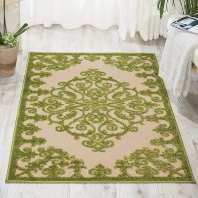 Seaside Green Indoor/Outdoor Area Rug Rug Size: 36 x 56