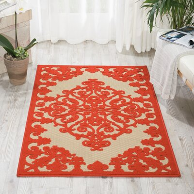 Seaside Red Indoor/Outdoor Area Rug