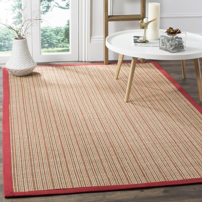Greene Hand-Woven Rust Area Rug Rug Size: Rectangle 5 x 76