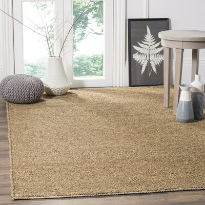 Bristol Fiber Hand-Woven Brown Area Rug Rug Size: Rectangle 5 x 8