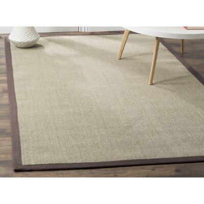 Casa Marina Hand-Loomed Taupe / Light Brown Area Rug Rug Size: 5 x 8