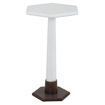 Stanford End Table Color: White