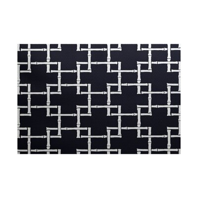 Connelly Navy Blue Indoor/Outdoor Area Rug Rug Size: 5' x 7'