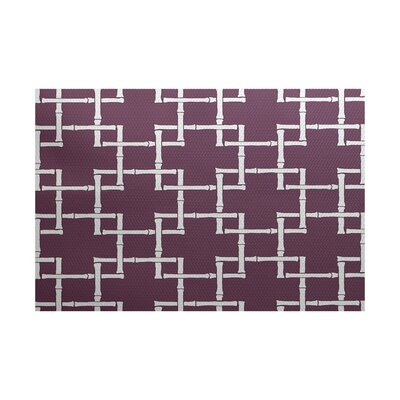 Connelly Purple Indoor/Outdoor Area Rug Rug Size: 5 x 7