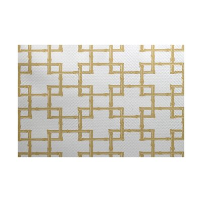 Connelly Gold Indoor/Outdoor Area Rug Rug Size: 3 x 5