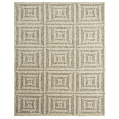 Oldham Mirror Image Beige Area Rug Rug Size: Rectangle 8 x 10