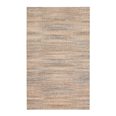 Lynn Haven Hand-Woven Tan/Ivory/Blue Area Rug Rug Size: 4 x 6