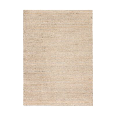 Morton Hand-Woven Gray/Tan Area Rug Rug Size: 5 x 8