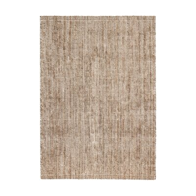 Campbell Hand-Woven Tan/Ivory Area Rug Rug Size: 5' x 8'
