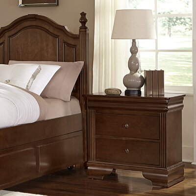 Hewitt 2 Drawer Nightstand Color: French Cherry