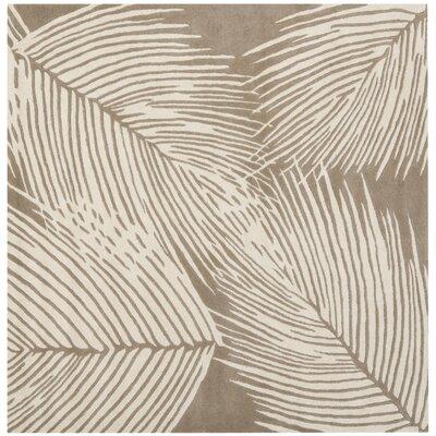Felton Beige / Ivory Rug Rug Size: Square 6
