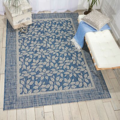 Key Haven Denim Indoor/Outdoor Area Rug Rug Size: Rectangle 36 x 56