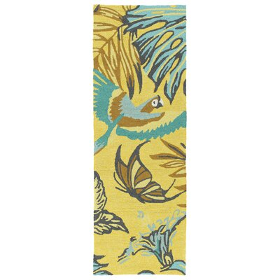 Navarre Handmade Yellow Indoor/Outdoor Area Rug Rug Size: Rectangle 3 x 5