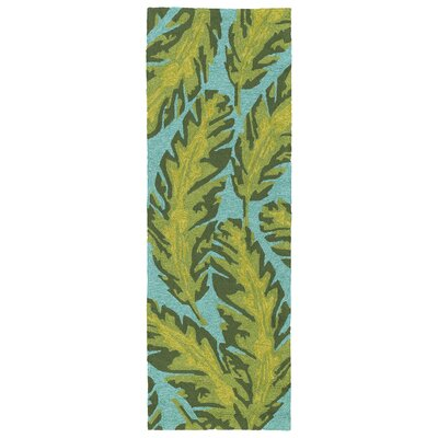 Navarre Handmade Green Indoor/Outdoor Area Rug Rug Size: Rectangle 5 x 76