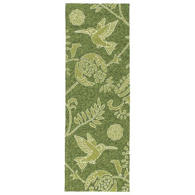 Navarre Handmade Green Indoor/Outdoor Area Rug Rug Size: Runner 2 x 6
