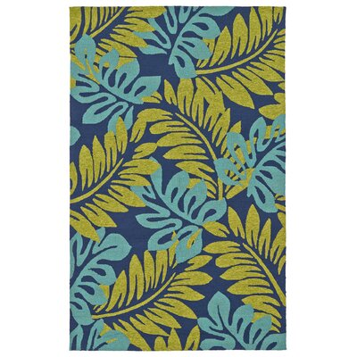 Navarre Hand-Tufted Green/Blue Indoor/Outdoor Area Rug Rug Size: 3 x 5