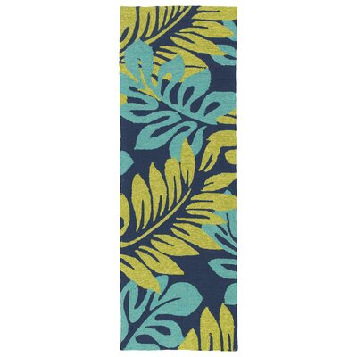 Navarre Hand-Tufted Green/Blue Indoor/Outdoor Area Rug Rug Size: Runner 2 x 6