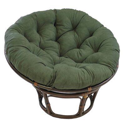 Decker Rattan Papasan Chair Upholstery: Hunter Green