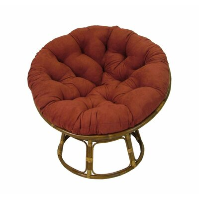 Decker Papasan Chair Upholstery: Cardinal Red