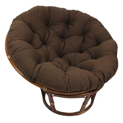 Decker Rattan Papasan Chair Upholstery: Chocolate