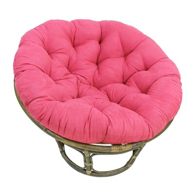 Decker Rattan Papasan Chair with Cushion Upholstery: Bery Berry