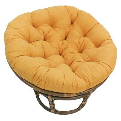 Decker Papasan Chair Upholstery: Lemon