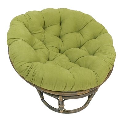 Decker Rattan Papasan Chair Upholstery: Mojito Lime