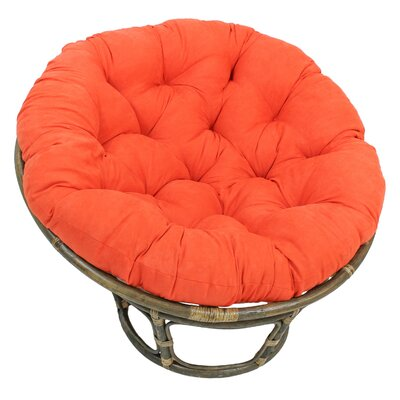 Decker Papasan Chair Upholstery: Tangerine Dream