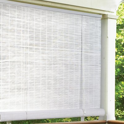 Outdoor Roller Blind Size: 96 W x 96 L, Color: Woodgrain
